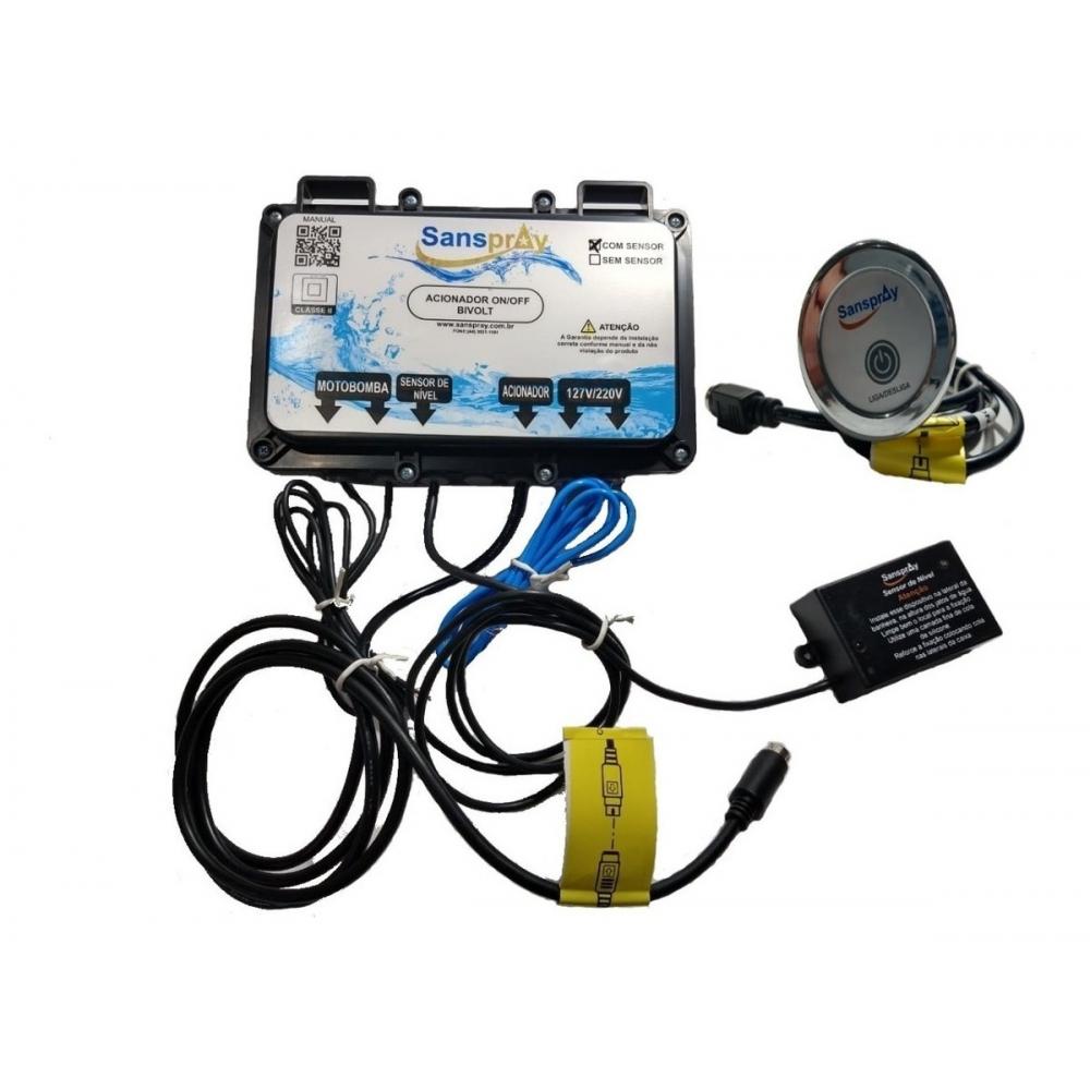 Acionador Eletrônico c/ Sensor de Nível Sanspray